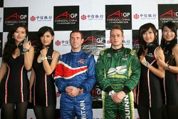 Press conference, Danny Watts, driver of A1 Team Great Britain, Adam Carroll, driver of A1 Team Ireland, tw steel girls