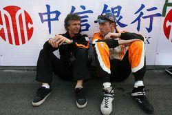 Jan Lammers, Seat Holder A1 Team Netherlands, Robert Doornbos, driver of A1 Team Netherlands