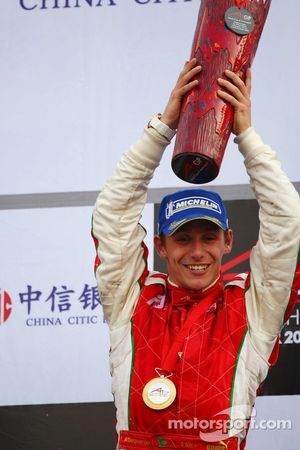 Podium: race winner Filipe Albuquerque