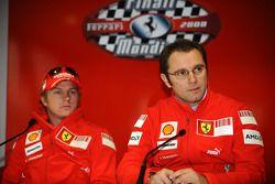 basın toplantısı: Kimi Raikkonen ve Stefano Domenicali