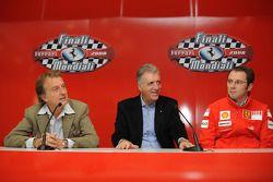 basın toplantısı: Luca di Montezemolo, Piero Ferrari ve Stefano Domenicali