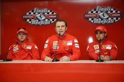 basın toplantısı: Kimi Raikkonen, Stefano Domenicali ve Felipe Massa