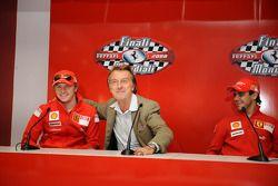 basın toplantısı: Kimi Raikkonen, Luca di Montezemolo ve Felipe Massa