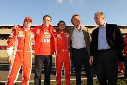 Kimi Raikkonen, Stefano Domenicali, Felipe Massa, Luca di Montezemolo ve Piero Ferrari