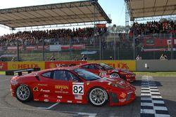Gianmaria Bruni Risi Competitione Ferrari F430 ve Toni Vilander AF Corse Ferrari F430