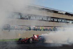 Kimi Raikkonen fait un burnout