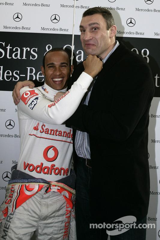 Two World Champions: Lewis Hamilton (Formula 1) and Vitali Klitschko (boxing)