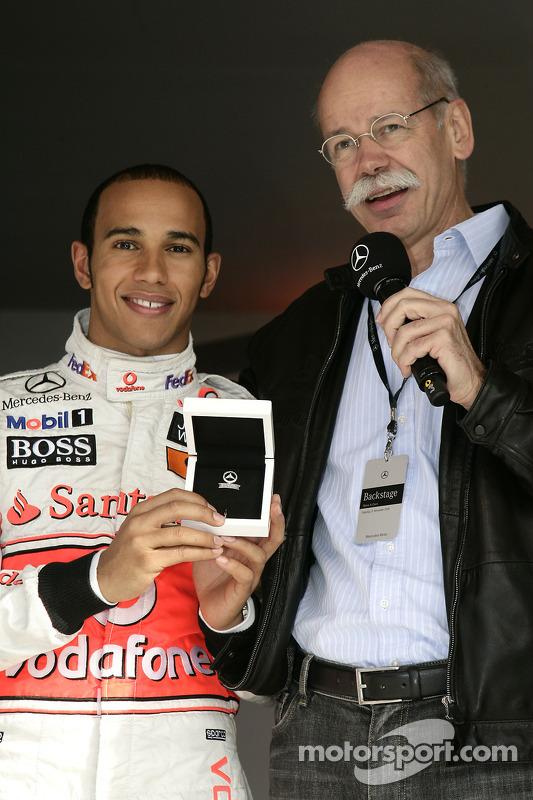World Champion Lewis Hamilton and Dr. Dieter Zetsche, CEO Daimler AG