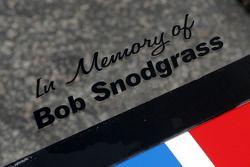 Bob Snodgrass memorial on the Brumos Racing Porsche Riley