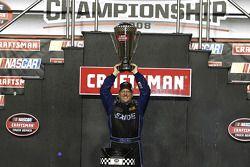 Championship victory lane: 2008 NASCAR Craftsman Truck Series champion Johnny Benson