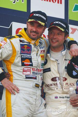 Yvan Muller ed Andy Priaulx