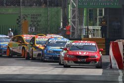 James Thompson, N. Technology, Honda Accord Euro R e Augusto Farfus, BMW Team Germany, BMW