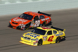 Juan Pablo Montoya and Tony Stewart