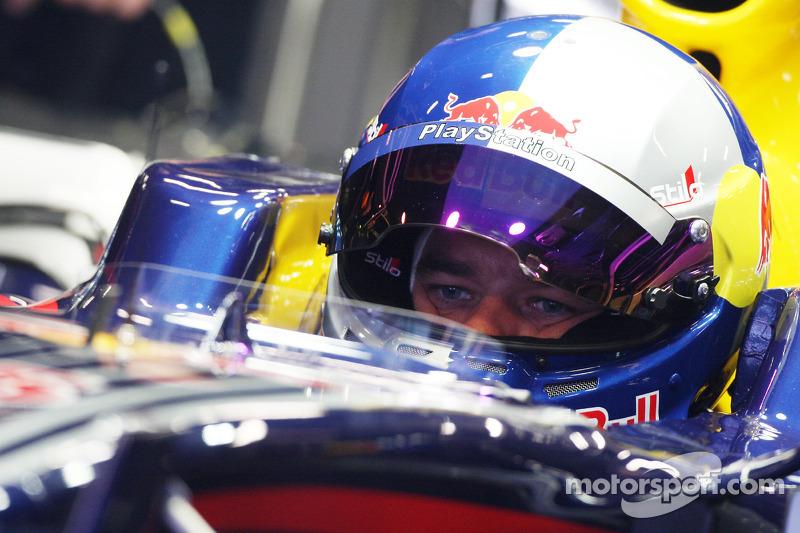 Sébastien Loeb au volant d'une Red Bull en 2008