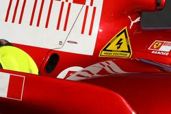 Un autocollant de danger de Ferrari