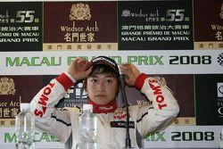 Keisuke Kunimoto à la conférence de presse post-qualifications