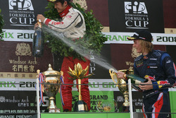 Hartley gets busy with the champagne