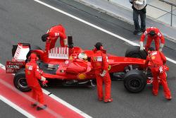 Luca Badoer, Test Driver, Scuderia Ferrari, running a KERS system