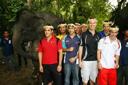 A1 Drivers at the Gandah Elephant Orphanage