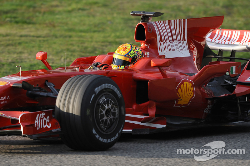 Valentino Rossi in Ferrari F2008 at Mugello in 2008