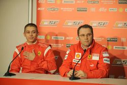 Valentino Rossi and Stefano Domenicali