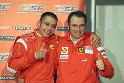 Valentino Rossi et Stefano Domenicali