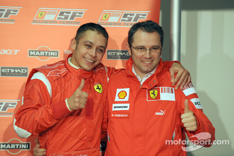 Valentino Rossi and Stefano Domenicali at Mugello in 2008