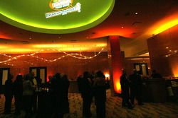 Guests mingle during a reception before the NASCAR Craftsman Truck Series Awards Banquet Monday at Seminole Hard Rock Hotel & Casino
