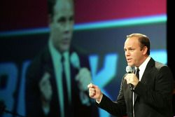 Comedian Tom Papa leaves 'em laughing at the 2008 NASCAR Craftsman Truck Series Awards Banquet