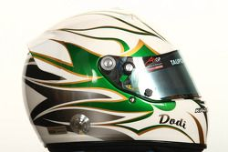 Edoardo Piscopo, driver of A1 Team Italy helmet
