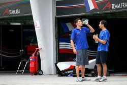 Loïc Duval et Nicolas Prost, pilotes de A1 Team France