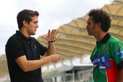 David Garza, pilote de A1 Team Mexico et Adrian Zaugg, pilote de A1 Team South Africa