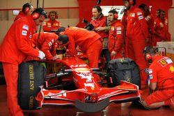 Valentino Rossi im Ferrari F2008