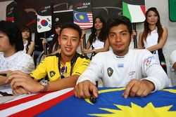 Aaron Lim, driver of A1 Team Malaysia and Fairuz Fauzy, driver of A1 Team Malaysia