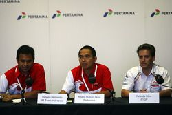 Team Indonesia Press Conference, Bagoes Hermanto, Anang Rizkani Noor and Pete da Silva