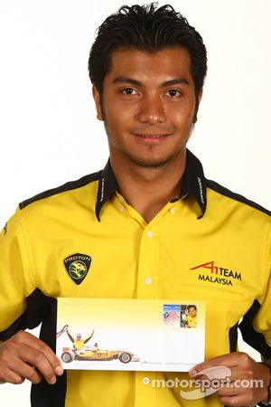 Fairuz Fauzy, driver of A1 Team Malaysia stamp