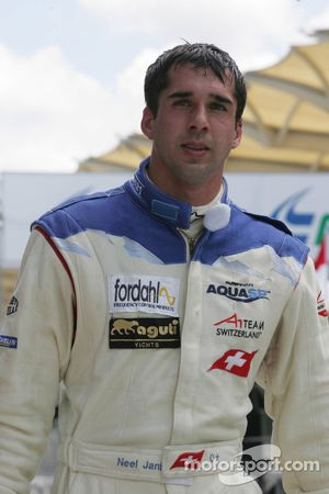 Sprint race pole winner Neel Jani, driver of A1 Team Switzerland