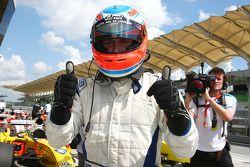Feature race pole winner Adam Carroll, driver of A1 Team Ireland