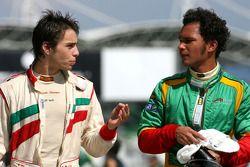 Edoardo Piscopo, driver of A1 Team Italy, Adrian Zaugg, driver of A1 Team South Africa