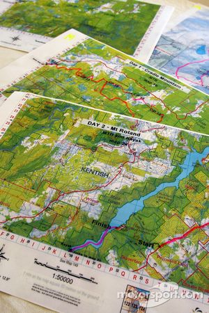 Launceston, Australia: course maps are seen