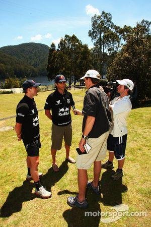 Launceston, Australia: Jan Kubicek and Liewue Boonstra of Team Red Bull are interviewed
