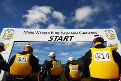 Launceston, Australia: competitors line up for the start
