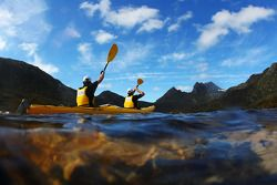 Launceston, Australia: competitors paddle out onto Dove Lake