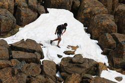 Launceston, Australia: Mark Webber treks through snow, top, Cradle Mountain