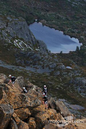 Launceston, Australia: competitors climb to the summit of Cradle Mountain