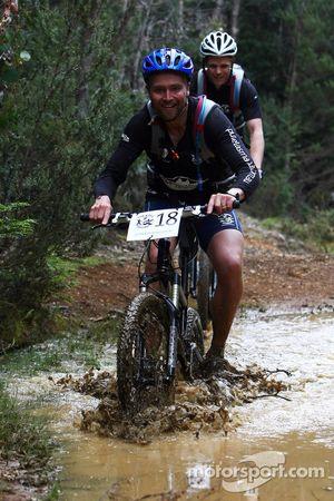 Launceston, Australia: Ian Ferrier of Team Mountain Designs in action