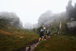Launceston, Australia: competitors reach the summit of Mount Claude