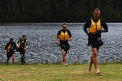 Launceston, Australia: Team RBS run to finish line