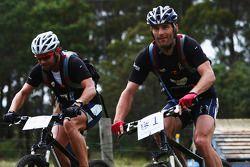 Launceston, Australia: Mark Webber and Daniel MacPherson of Team Pure Tasmania in action