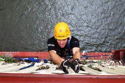Launceston, Australia: Jarad Kohlar of Team Keen in action on the bridge climb
